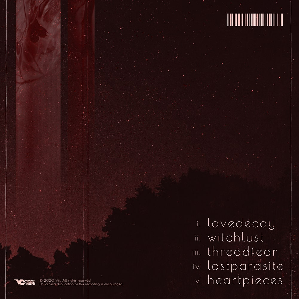 Rear artwork with tracklist