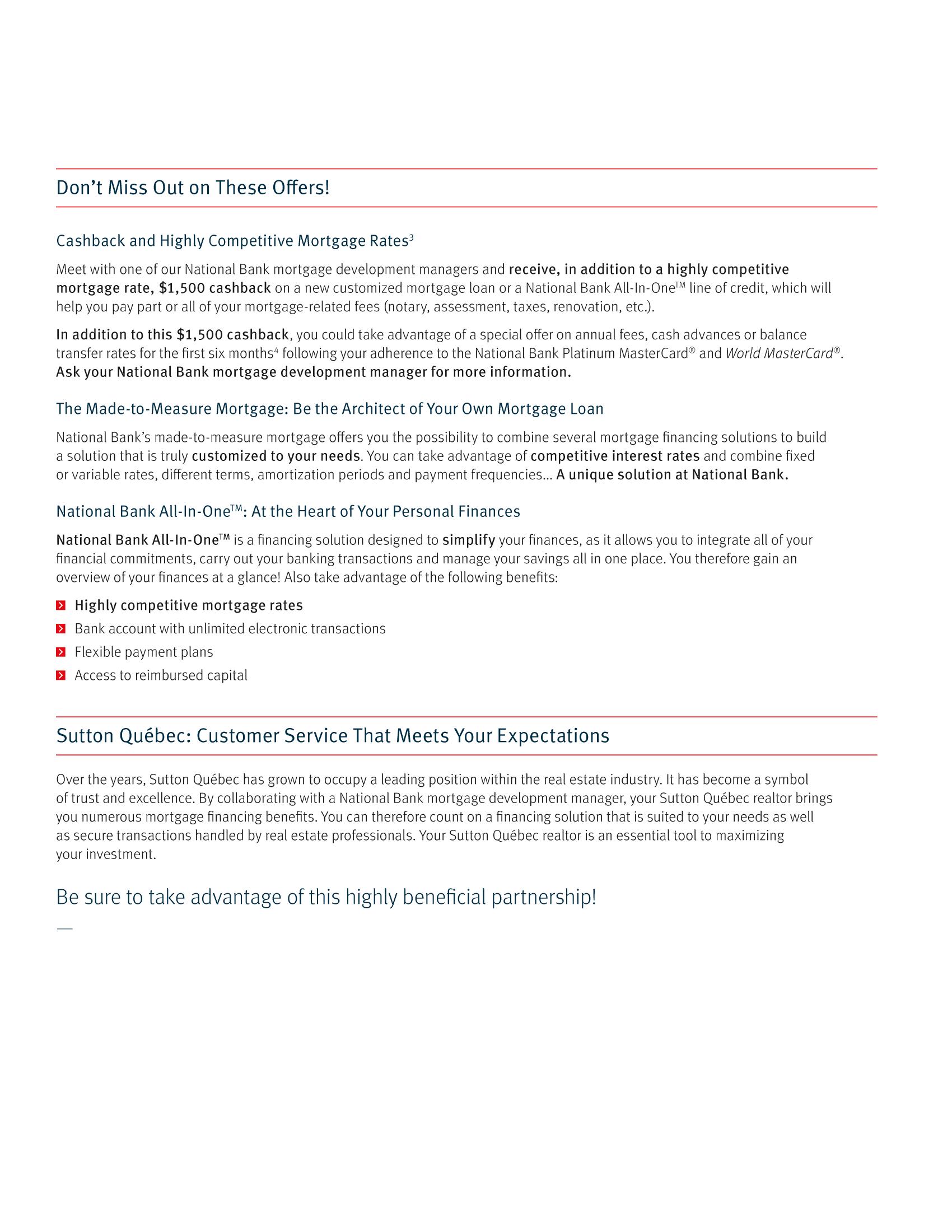 "3   Leaflet ""A Partnership with a Wealth of Advantages"" - Sutton"