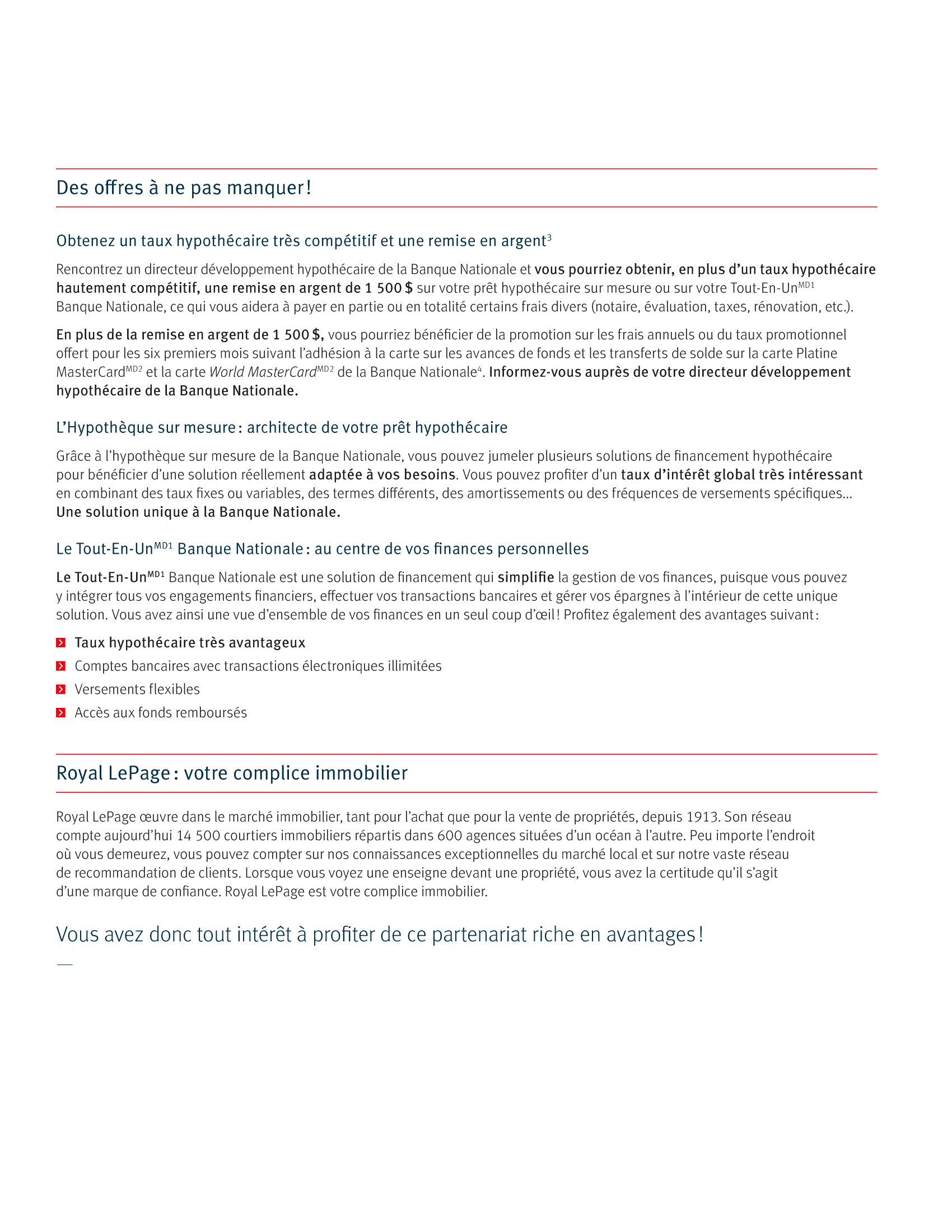 3 | Dépliant « Un partenariat riche en avantages » - Royal Lepage