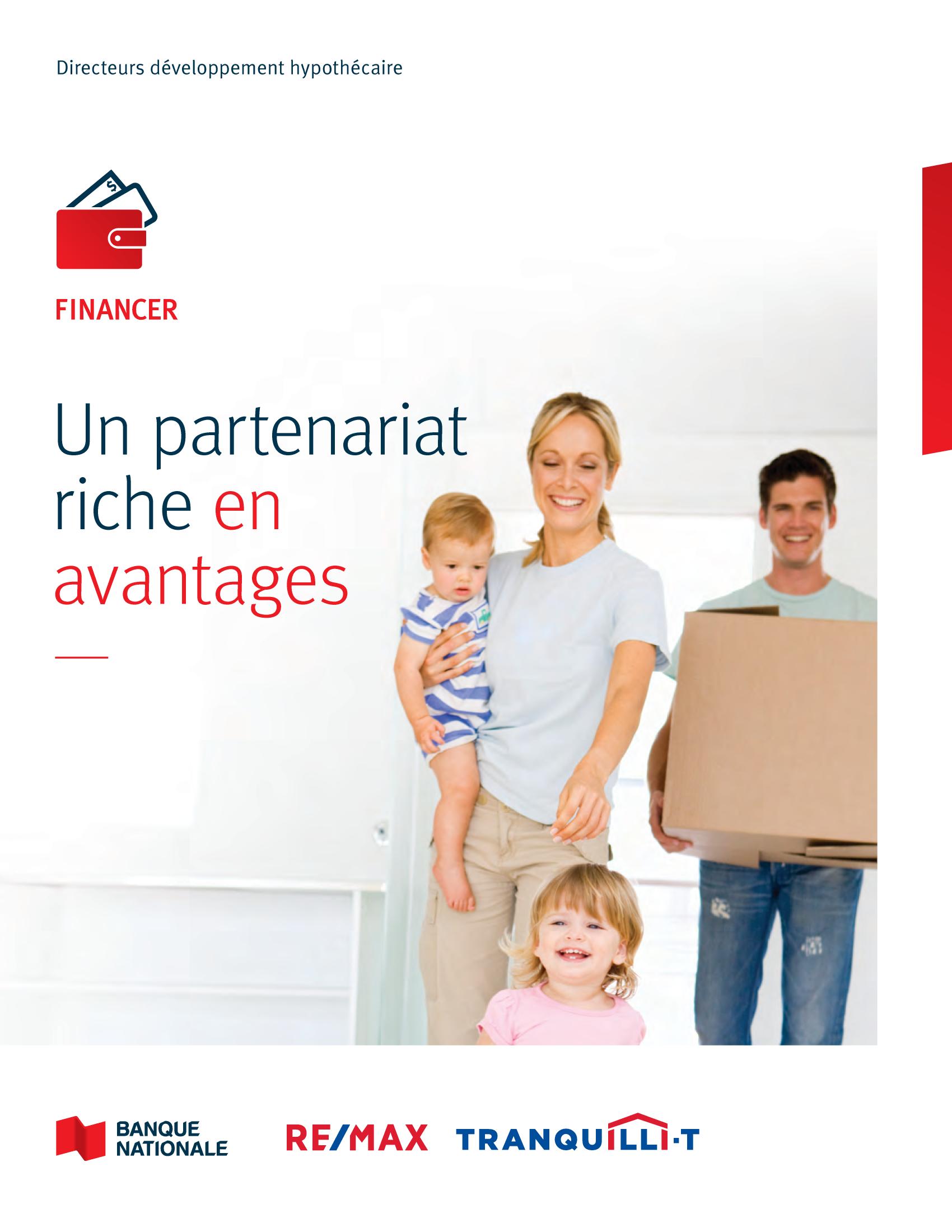 1 | Dépliant « Un partenariat riche en avantages » - RE/MAX Tranquili-t