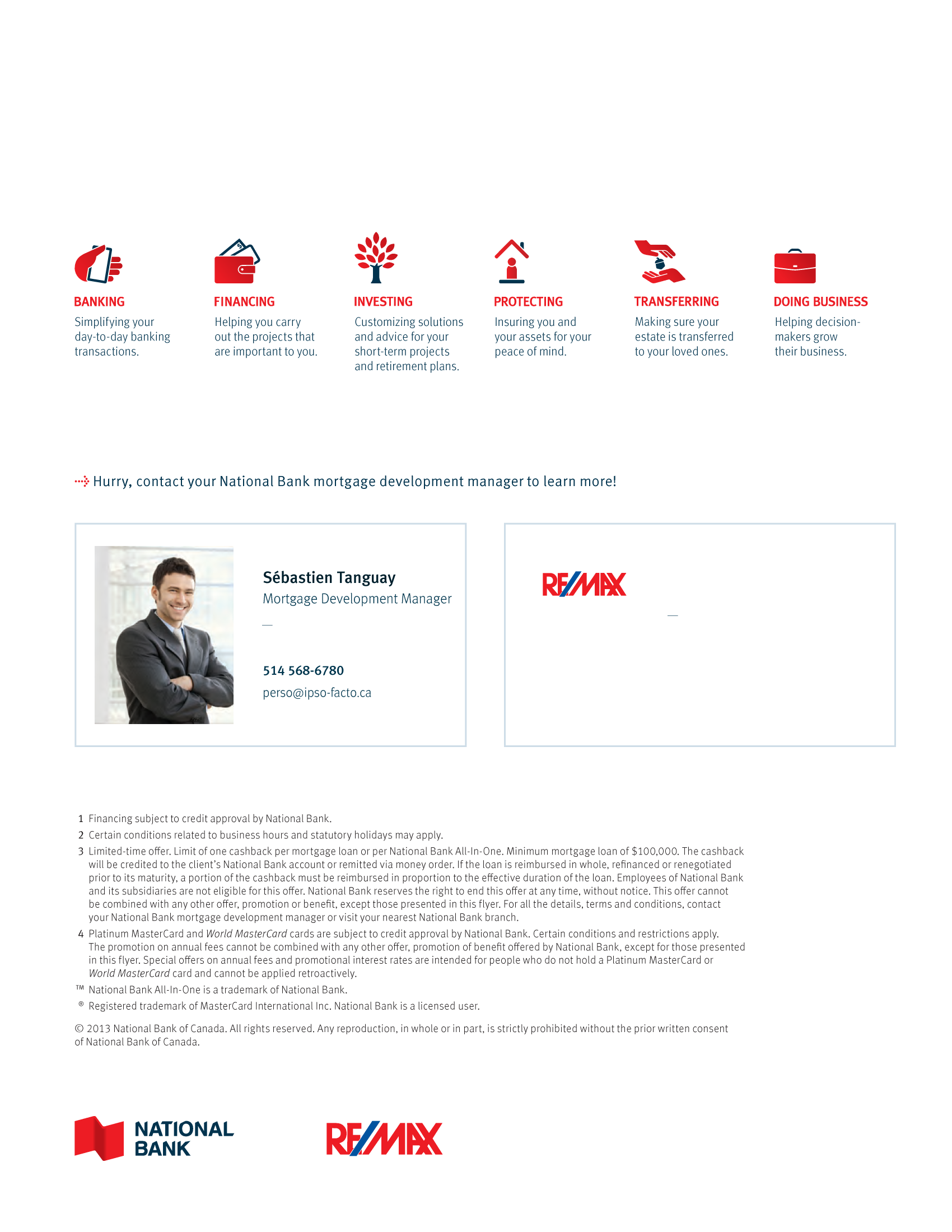 """4   Leaflet """"A Partnership with a Wealth of Advantages"""" - RE/MAX"""