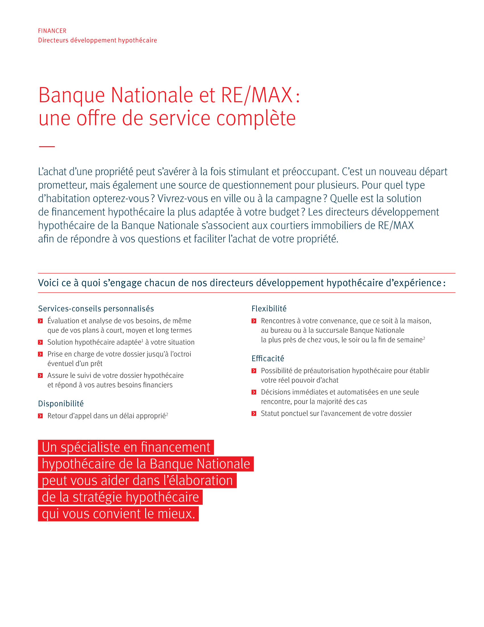 2 | Dépliant « Un partenariat riche en avantages » - RE/MAX