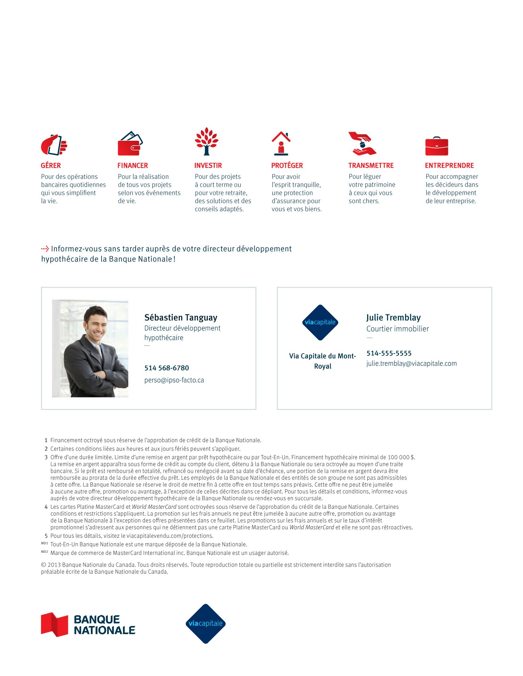 4 | Dépliant « Un partenariat riche en avantages » - Via Capitale