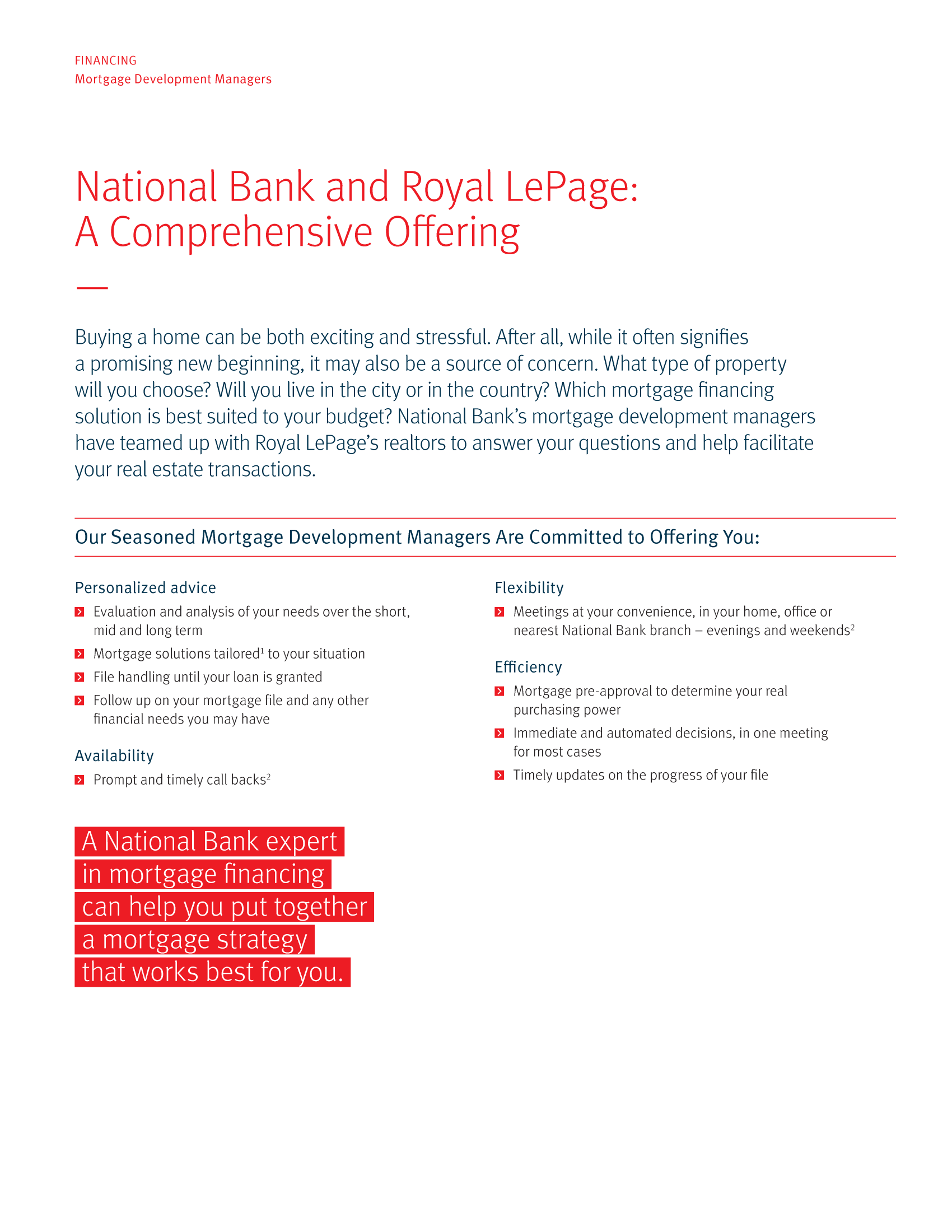 """2   Leaflet """"A Partnership with a Wealth of Advantages"""" - Royal Lepage"""