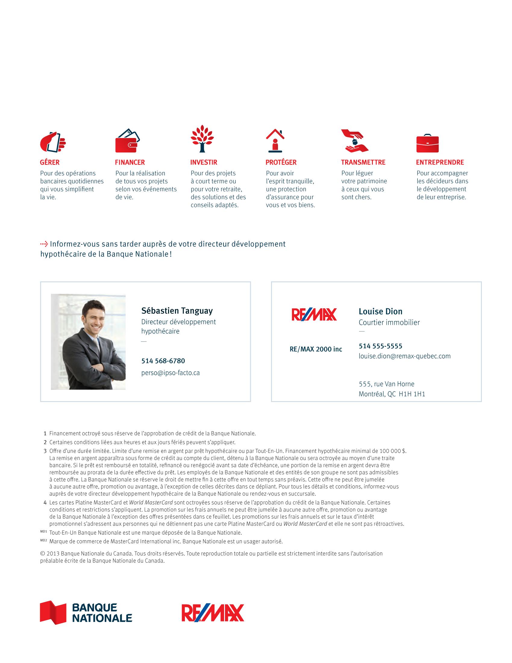 4 | Dépliant « Un partenariat riche en avantages » - RE/MAX