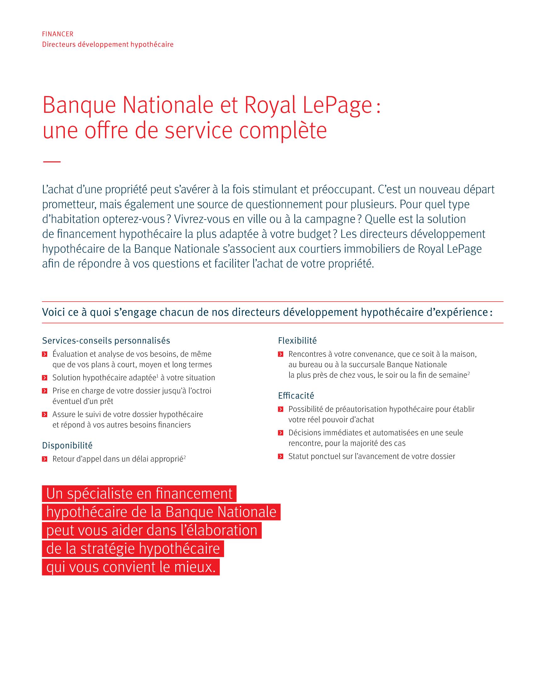 2 | Dépliant « Un partenariat riche en avantages » - Royal Lepage