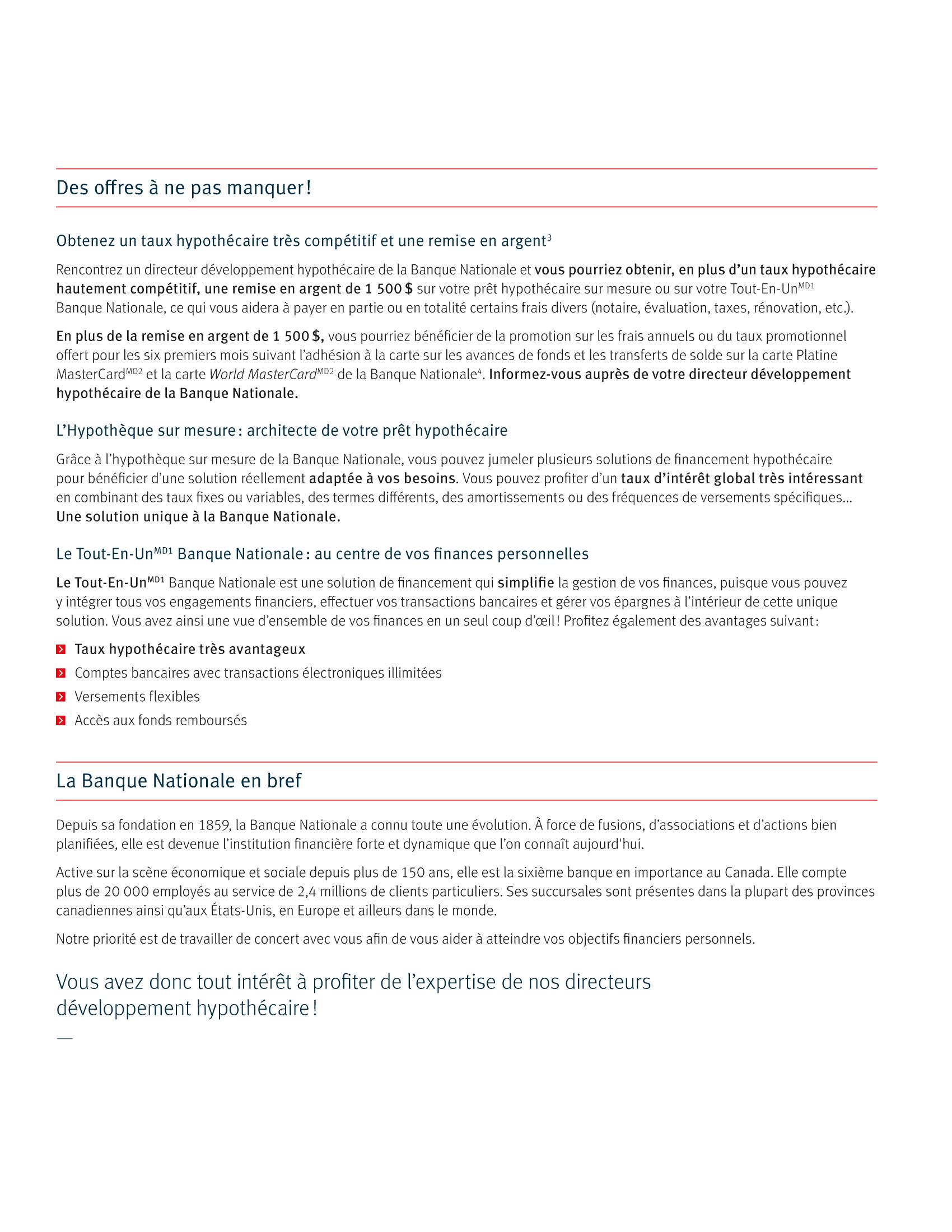 3 | Dépliant « Un partenariat riche en avantages » - Constructeur