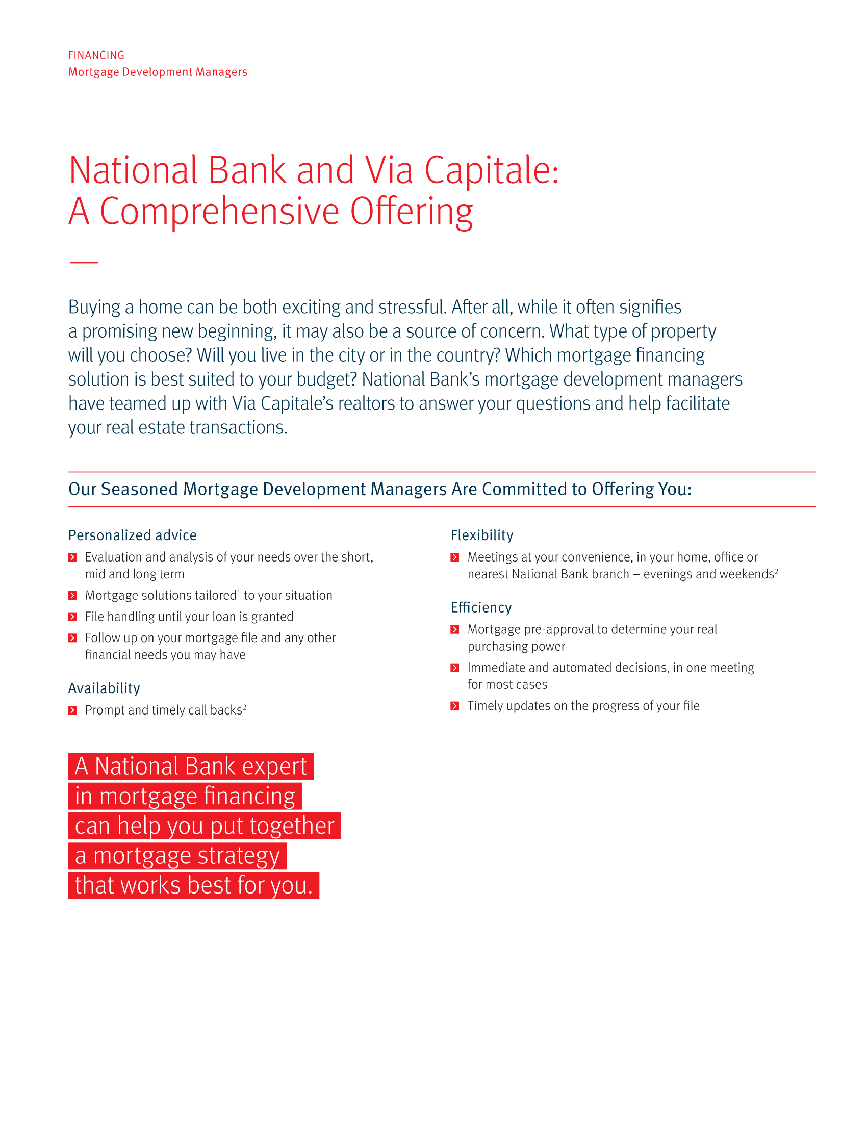 "2 | Leaflet ""A Partnership with a Wealth of Advantages"" - Via Capitale"