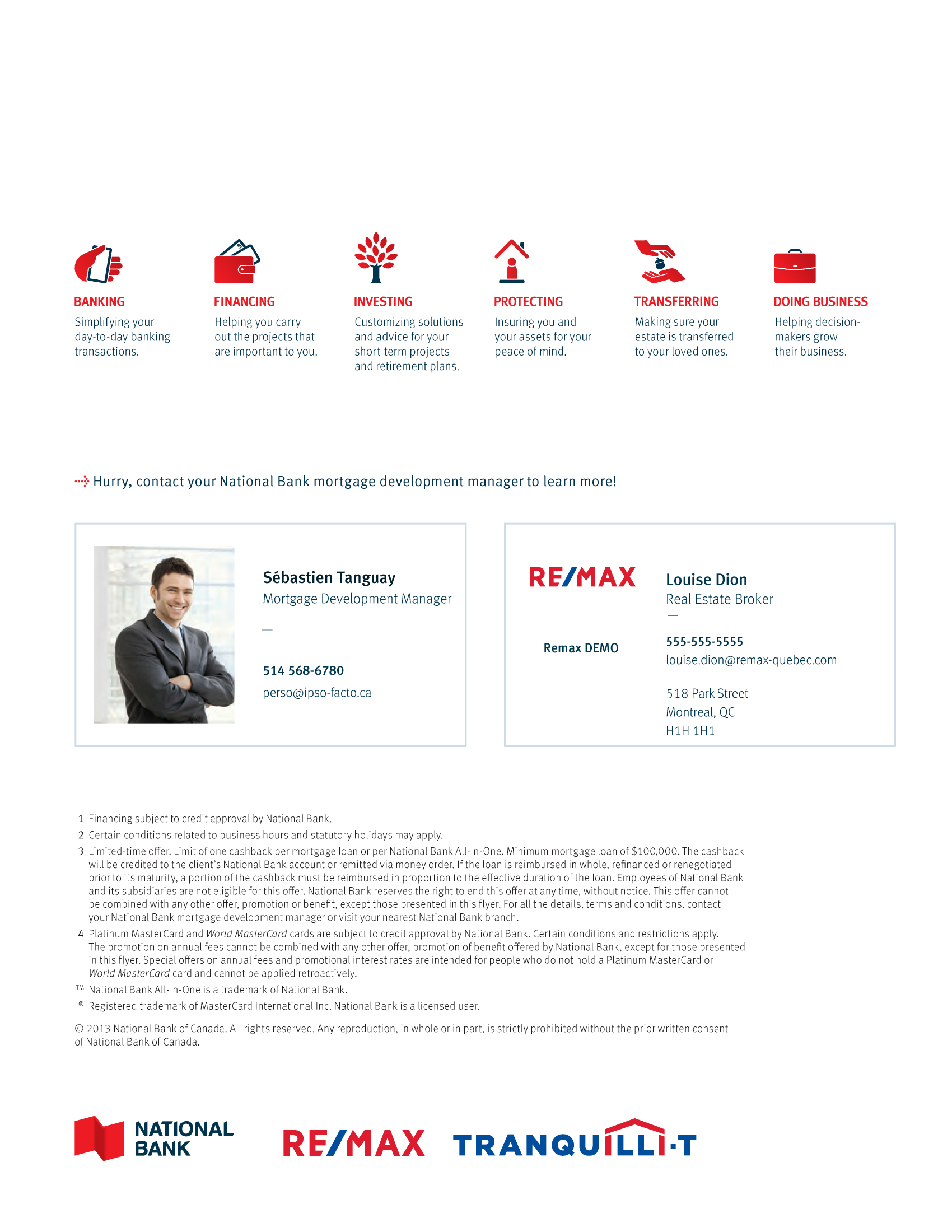 """4   Leaflet """"A Partnership with a Wealth of Advantages"""" - RE/MAX Traquili-t"""