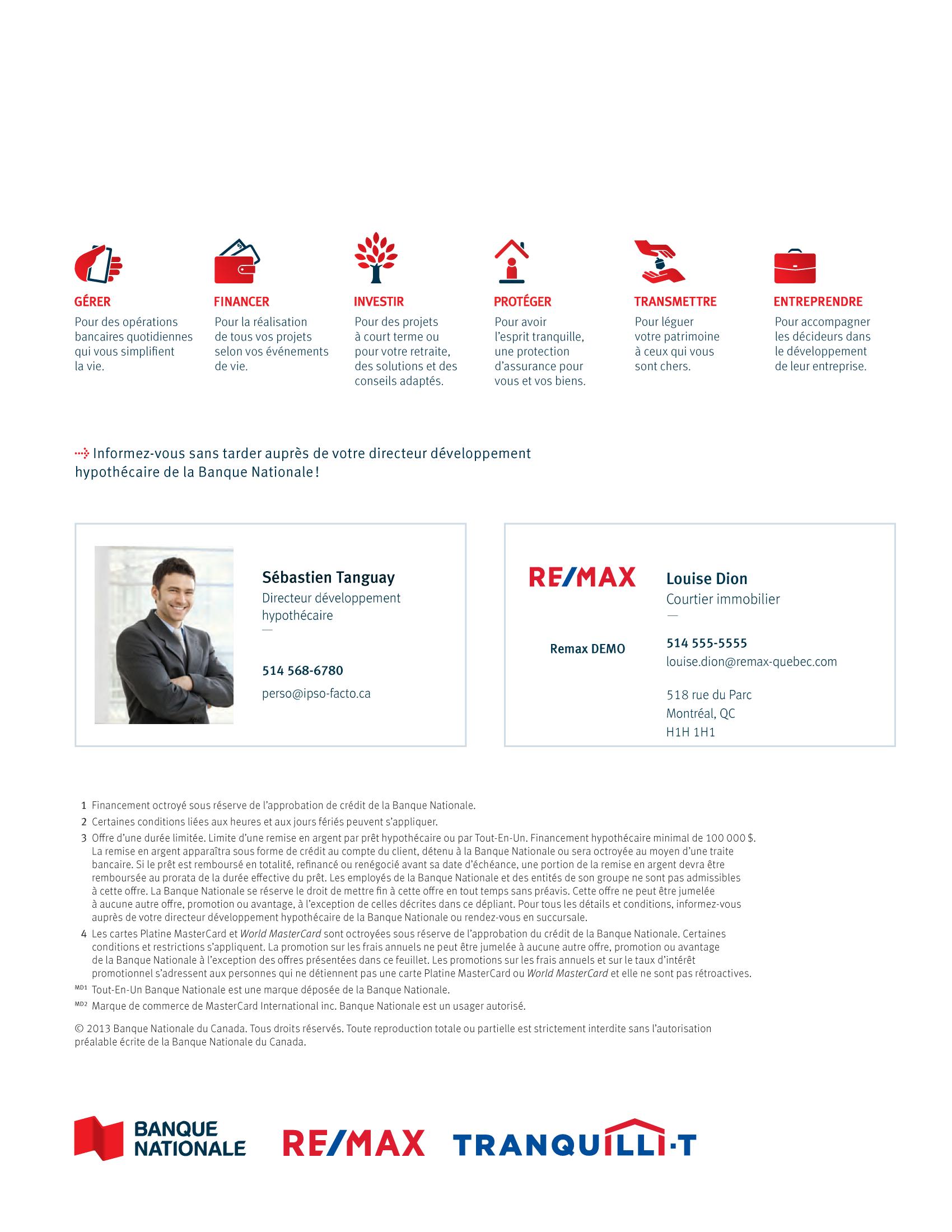 4 | Dépliant « Un partenariat riche en avantages » - RE/MAX Tranquili-t