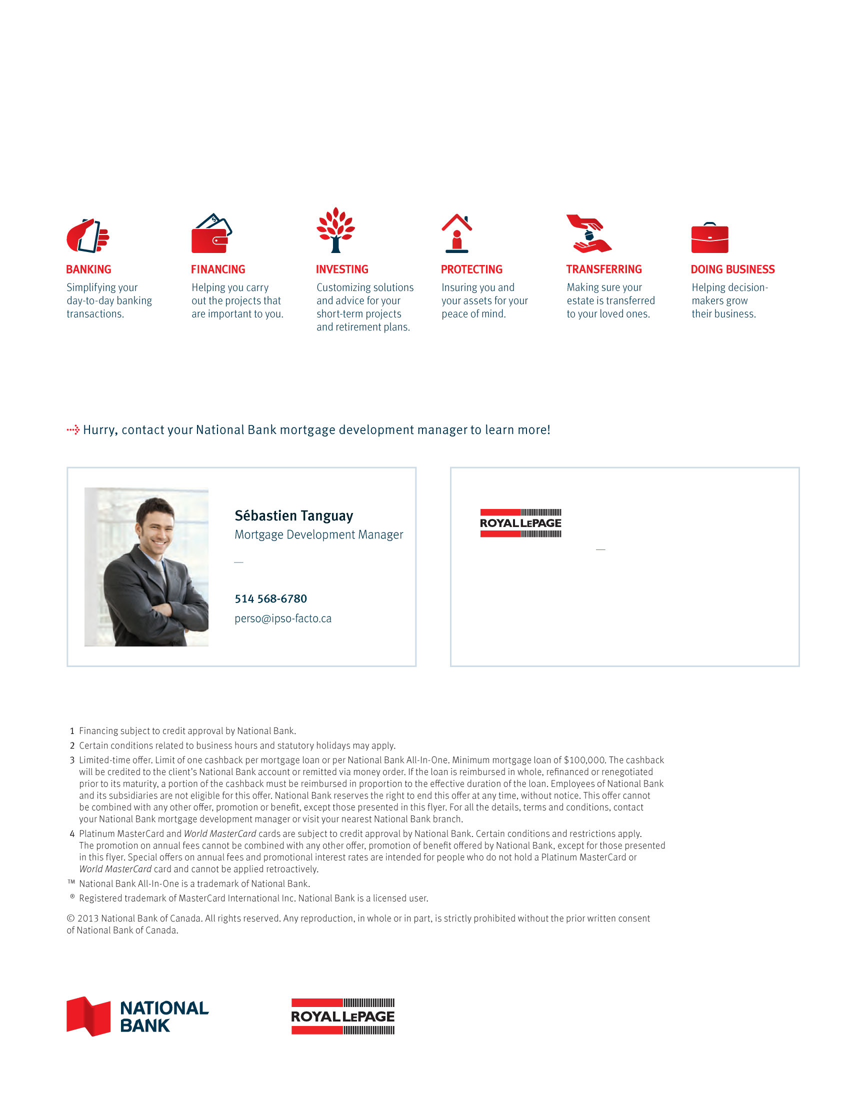 """4   Leaflet """"A Partnership with a Wealth of Advantages"""" - Royal Lepage"""