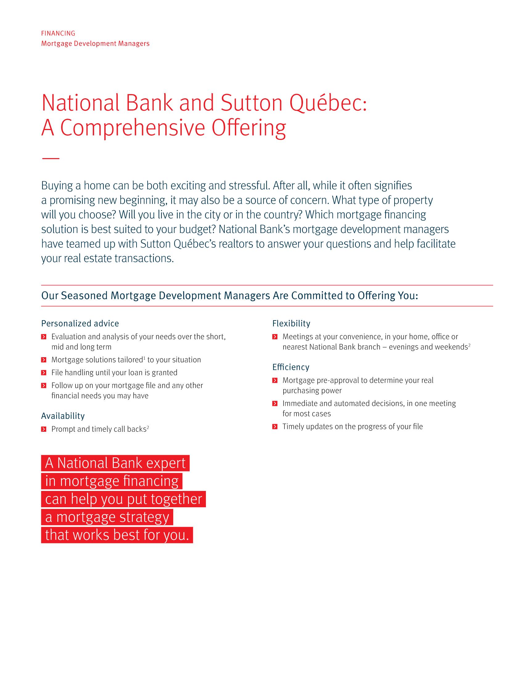 "2 | Leaflet ""A Partnership with a Wealth of Advantages"" - Sutton"