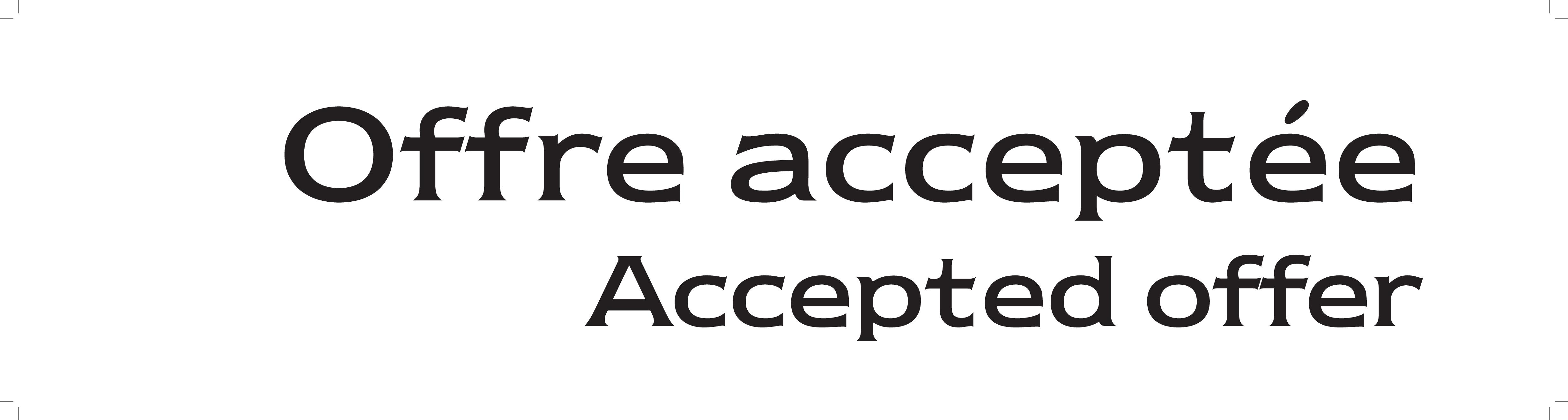 1 | Offre Acceptée