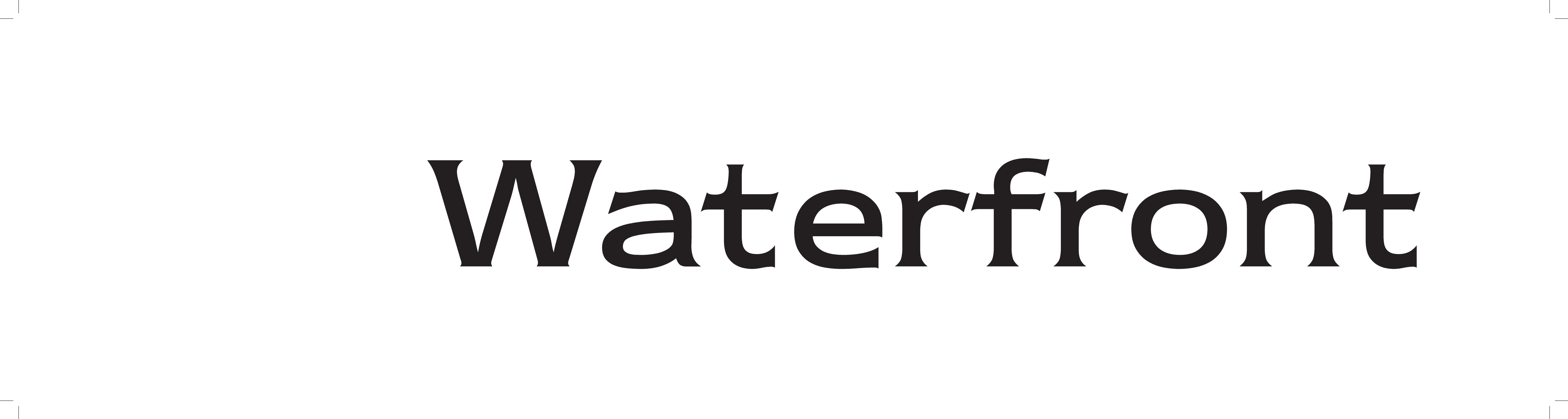 1   Waterfront