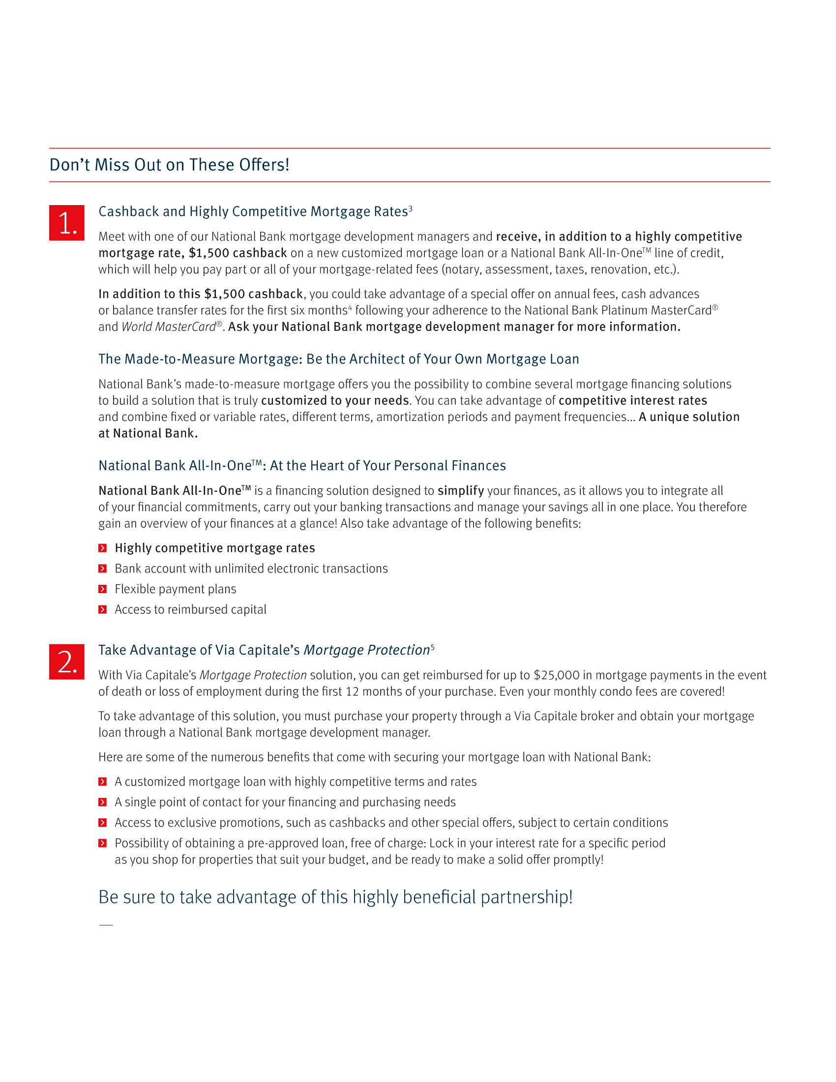 "3   Leaflet ""A Partnership with a Wealth of Advantages"" - Via Capitale"