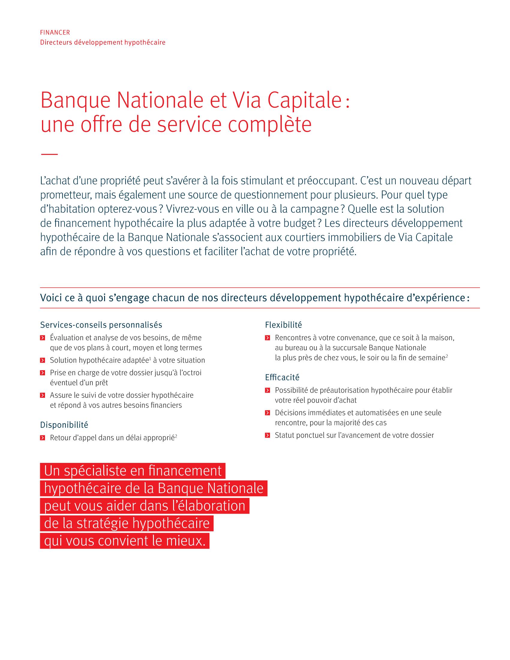 2 | Dépliant « Un partenariat riche en avantages » - Via Capitale