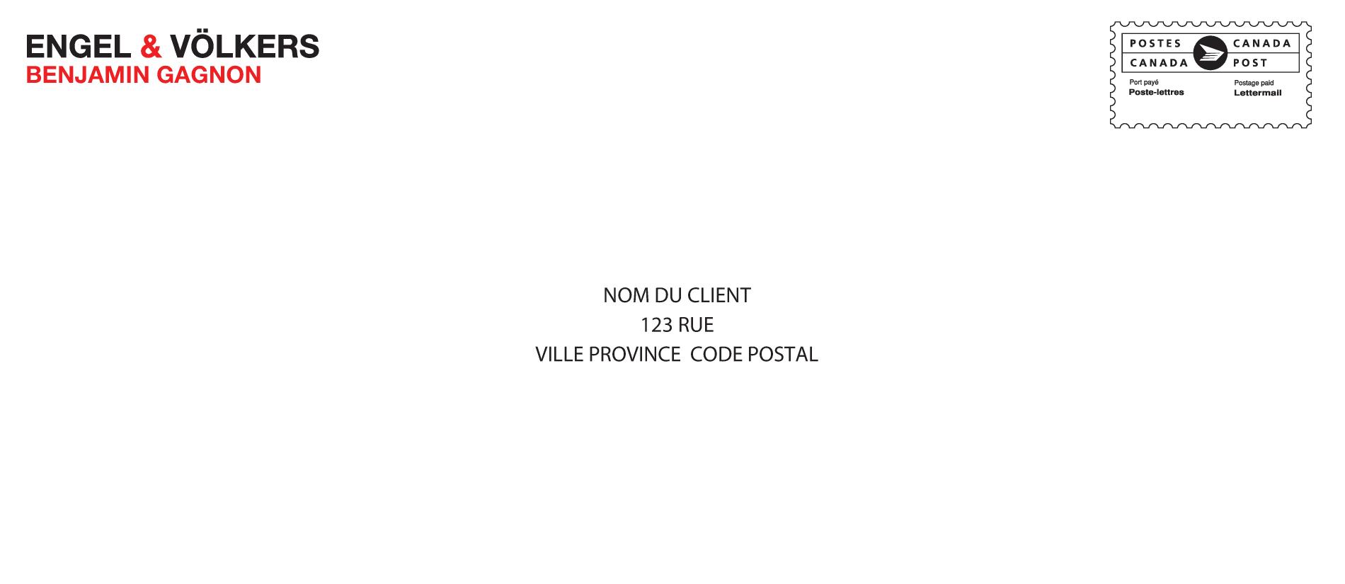 1 | Enveloppe no 10 personnalisée