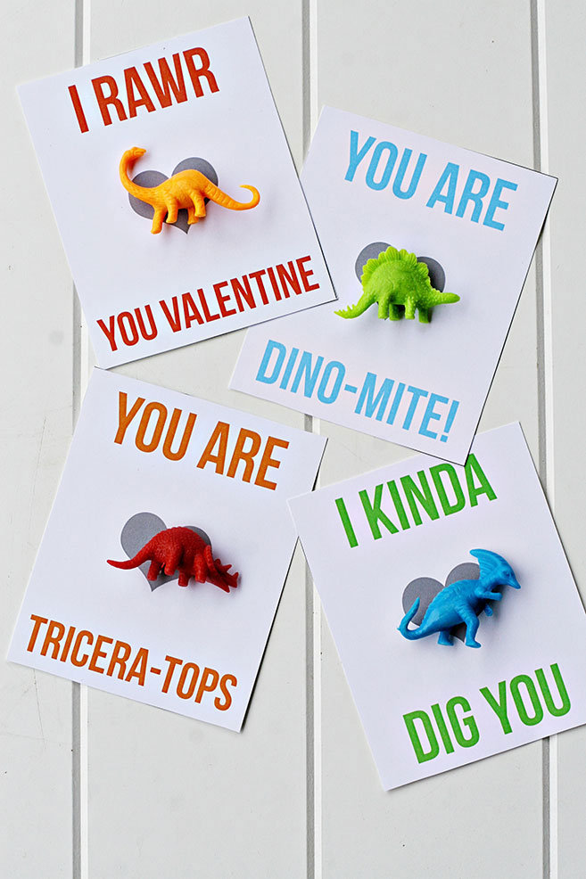 Dinosaur Printable Valentines | MyPrintly.com