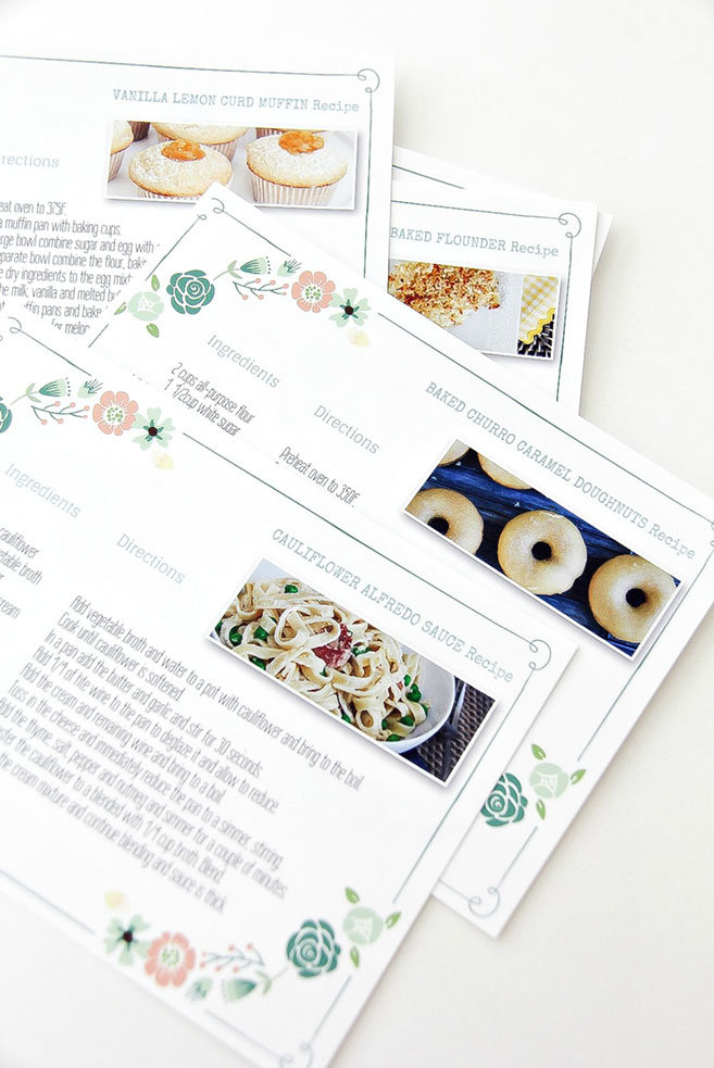 DIY Family Recipe Book
