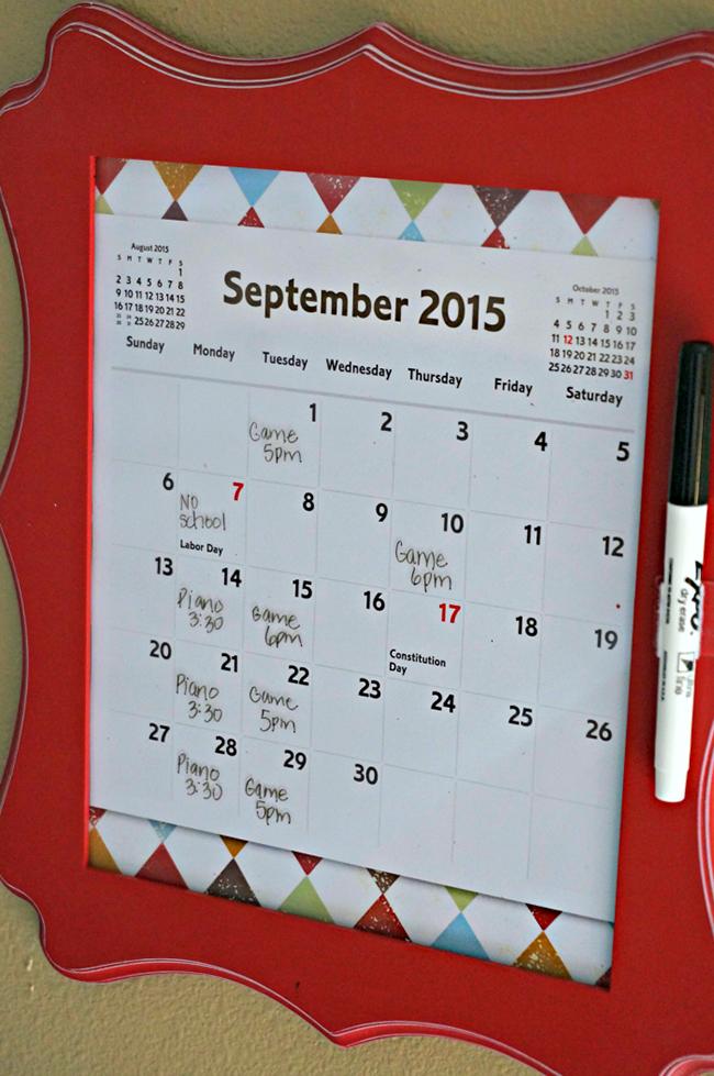 Diy Dry Erase Calendar Myprintly