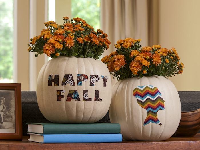 Faux Pumpkin Fall Vases