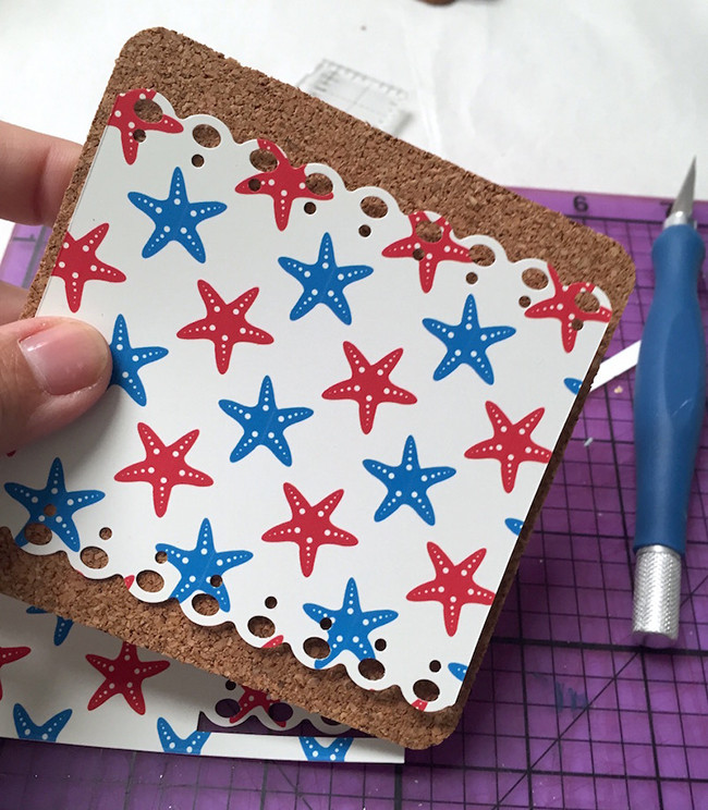 how to make coasters with mod podge