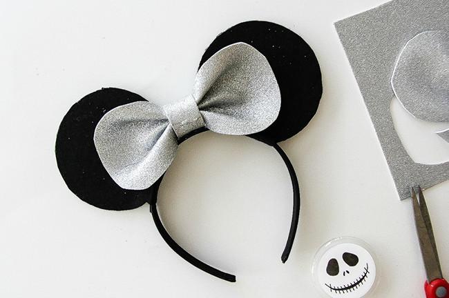 DIY Jack Skellington Mickey Mouse Ears