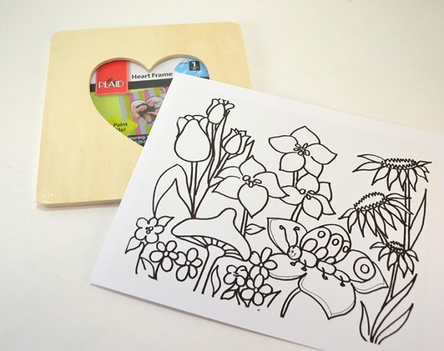 Color Your Own Spring Picture Frame - MyPrintly