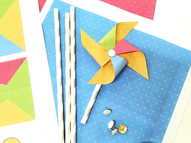 Mini Paper Pinwheels Myprintly