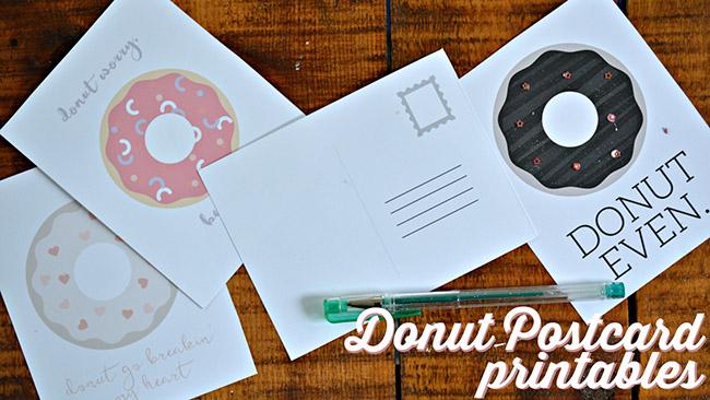 DIY Donut Postcards