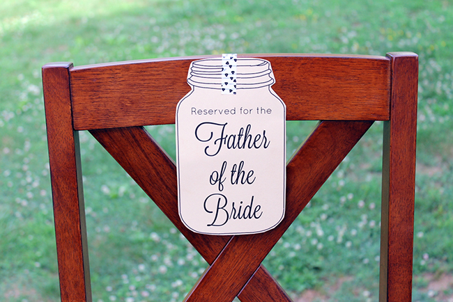 Wedding Seat Reservation Signs