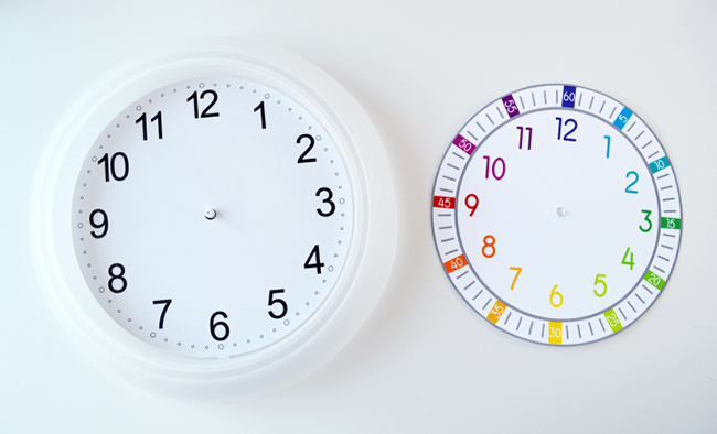 Printable Clock Face for Kids