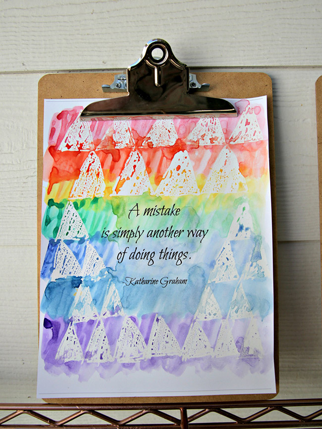 Easy Watercolor Quotes Wall Art