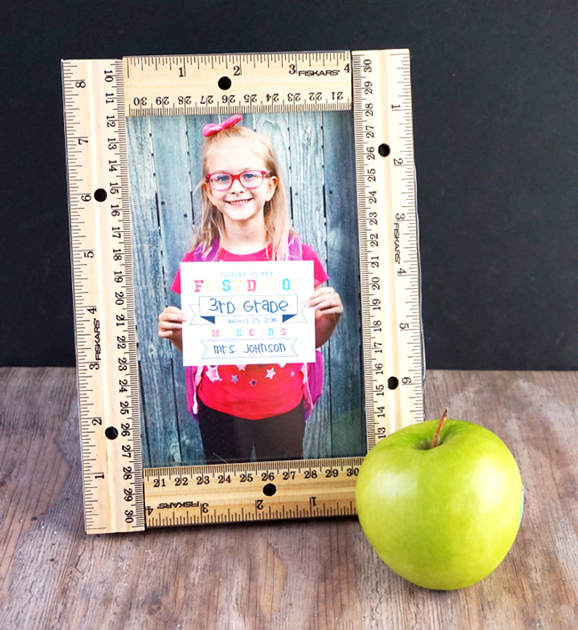 First Day of School Printable and Ruler Frame