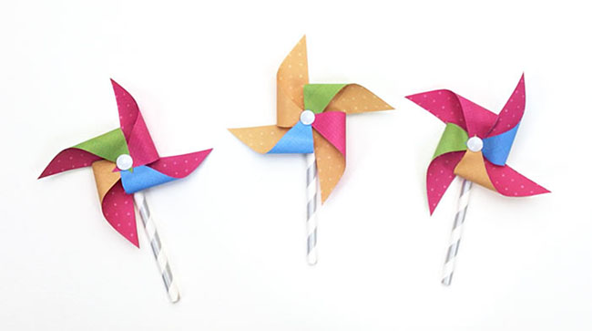 Mini paper pinwheels myprintly mini paper pinwheels maxwellsz