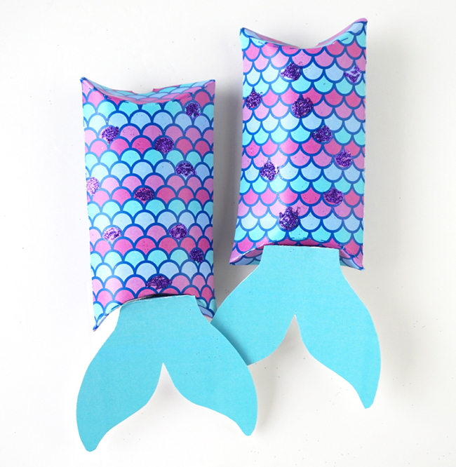 Mermaid Tail Pillow Boxes