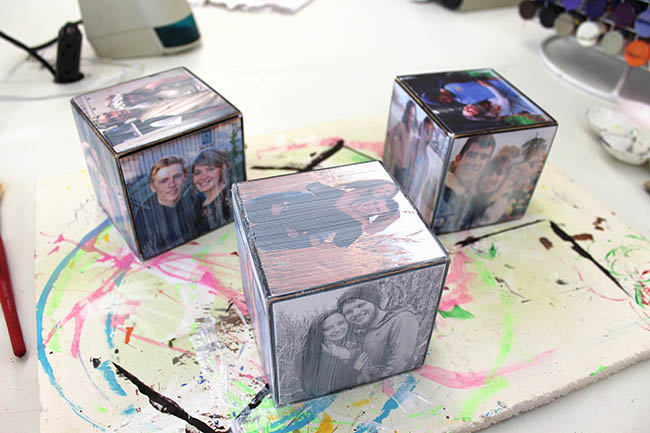 DIY Photo Cubes