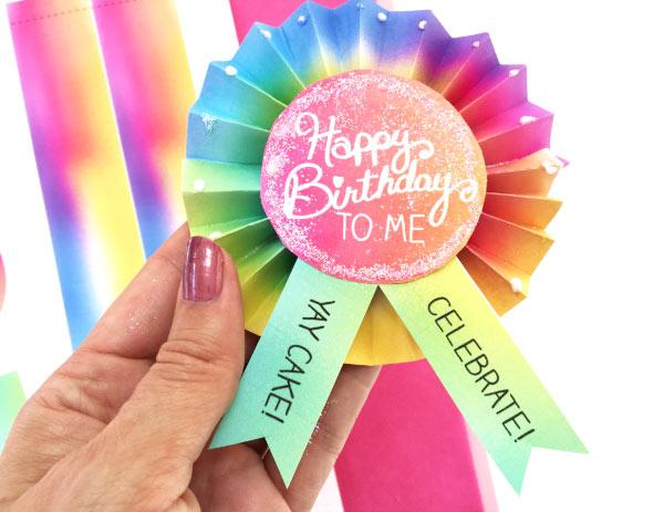 DIY Birthday Button