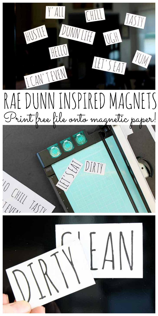 3 Way Refrigerator >> Rae Dunn Inspired Magnets - MyPrintly