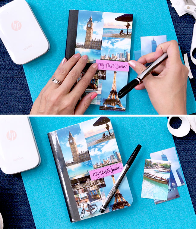 diy travel journal with photos myprintly