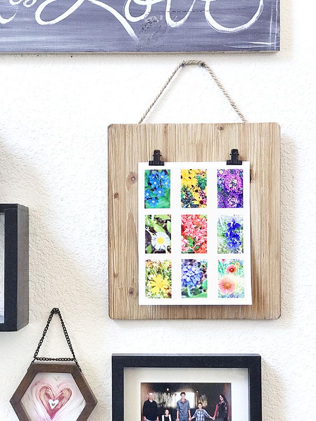 Mini Floral Photo Art Collage