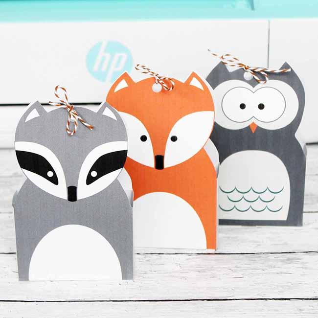 Woodland Animal Treat Bags
