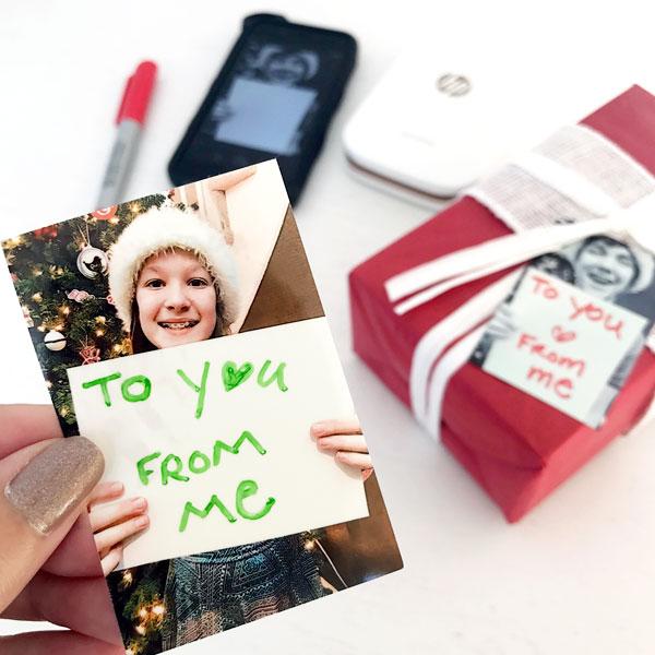 DIY Holiday Photo Gift Tags