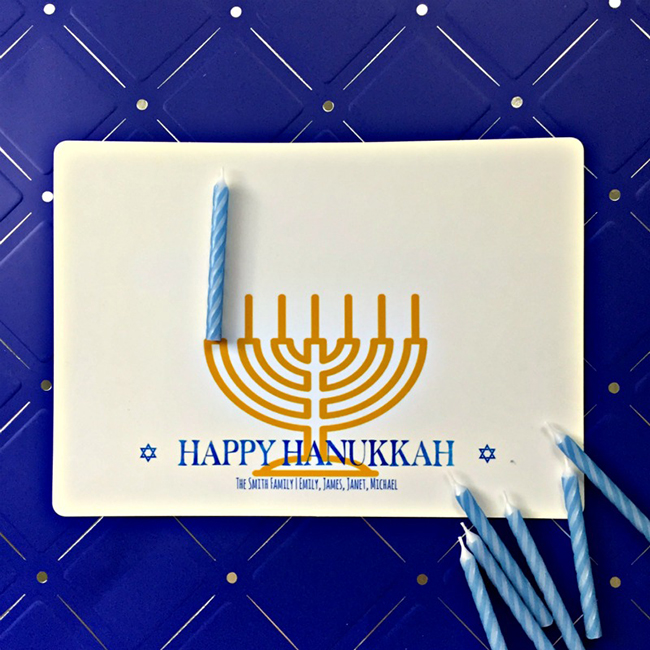 Hanukkah Candle Card Craft