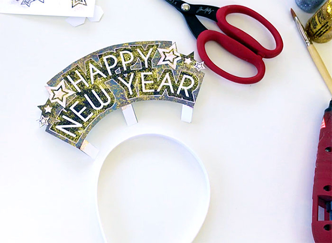 DIY New Year Headbands