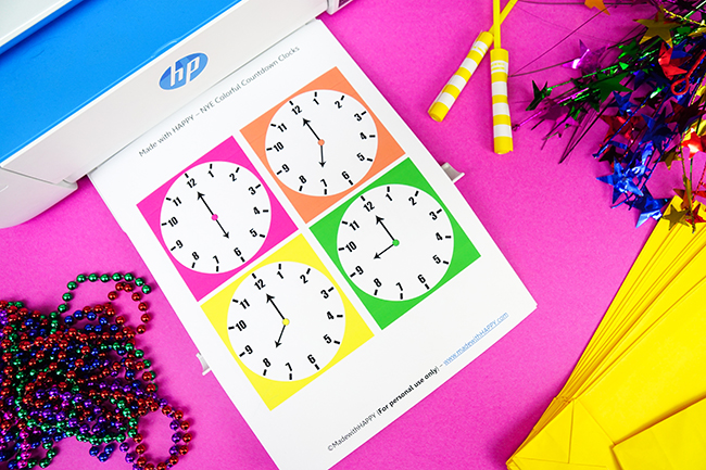 DIY New Years Eve Count Down Clock Bags