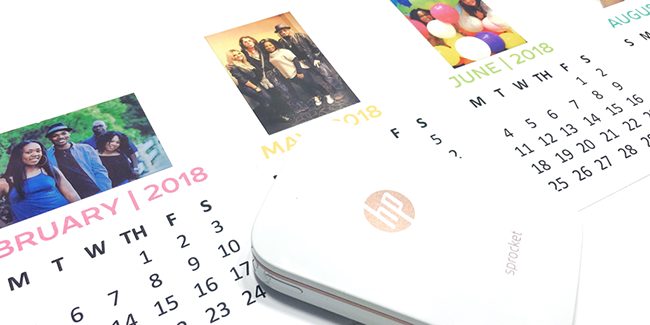 Personalized 2018 Sprocket Calendar Craft