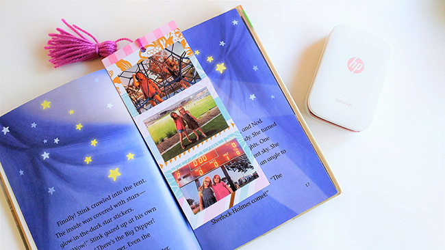 DIY Personalized Jumbo Photo Bookmarks