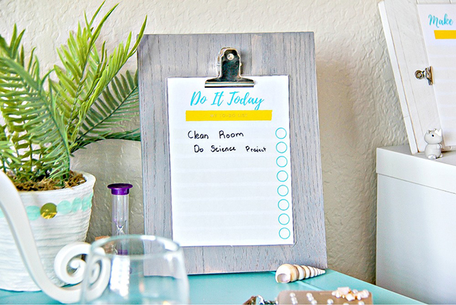 DIY Erasable Chore Charts and Lists