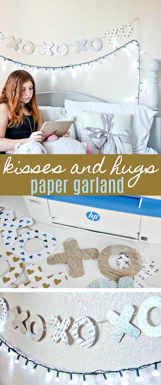 DIY Handmade Kisses and Hugs Garland